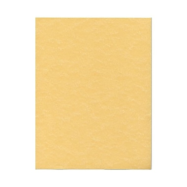 JAM Paper® 8 1/2in. x 11in. Parchment Recycled Cover Cardstock, Antique Gold, 250 Sheet/Ream