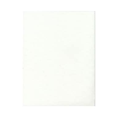 JAM Paper® 8 1/2in. x 11in. Parchment Recycled Cover Cardstock, White, 50 Sheets/Pack