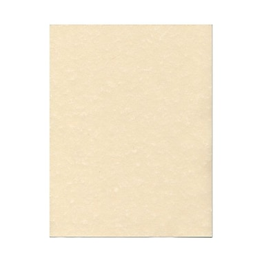 JAM Paper® 8 1/2in. x 11in. Parchment Recycled Cover Cardstock, Natural, 50 Sheets/Pack