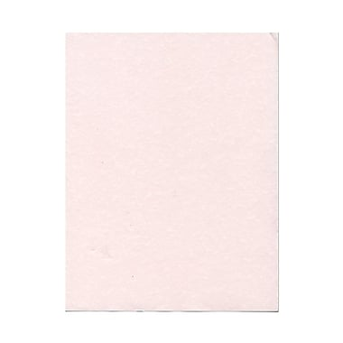 JAM Paper® 8 1/2in. x 11in. Parchment Recycled Cover Cardstock, Pink Ice, 50 Sheets/Pack