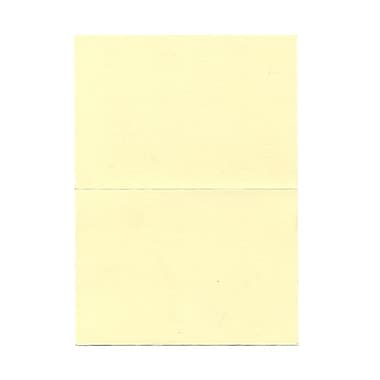 JAM Paper® 3 1/2in. x 4 7/8in. Linen Blank Foldover Cards, Ivory, 100/Pack