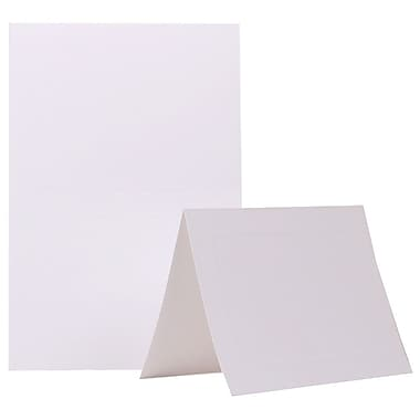 JAM Paper® 5in. x 6 5/8in. Smooth Panel Blank Foldover Cards, Ivory, 500/Pack