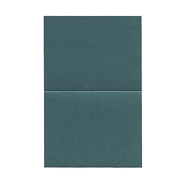 JAM Paper® Blank Foldover Cards, A2 size, 4.25 x 5.5, Stardream Metallic Emerald, 50/pack (6935524)