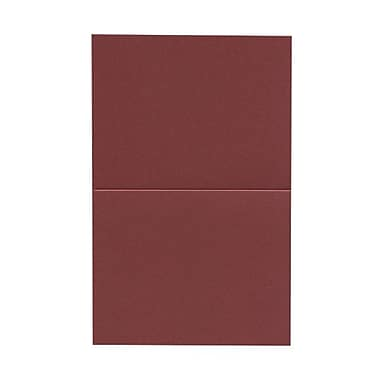 JAM Paper® Blank Foldover Cards, A2 size, 4.25 x 5.5, Stardream Metallic Mars Red, 50/pack (269313359)