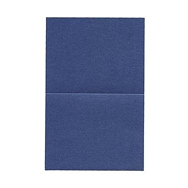 JAM Paper® Blank Foldover Cards, A2 size, 4.25 x 5.5, Stardream Metallic Sapphire Blue, 50/pack (6935526)