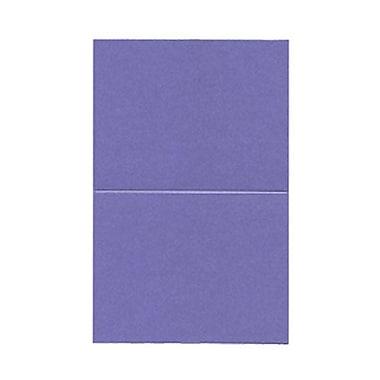 JAM Paper® Blank Foldover Cards, A2 size, 4.25 x 5.5, Curious Metallic Purple Haze, 50/pack (6937061)