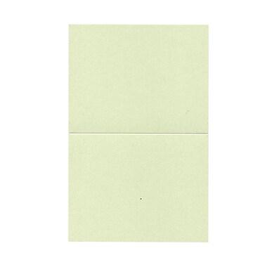 JAM Paper® Blank Foldover Cards, A2 size, 4.25 x 5.5, Stardream Metallic Serpentine Green, 50/pack (69313372)