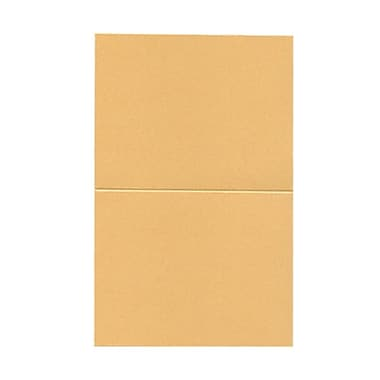 JAM Paper® Blank Foldover Cards, A2 size, 4.25 x 5.5, Stardream Metallic Amber, 50/pack (69313373)