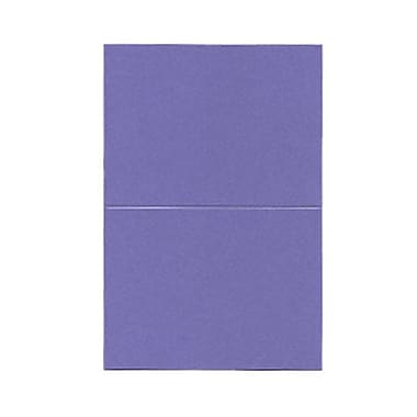 JAM Paper® Blank Foldover Cards, A6 size, 4 5/8 x 6 1/4, 80lb Curious Metallic Purple Haze, 50/pack (6937067)