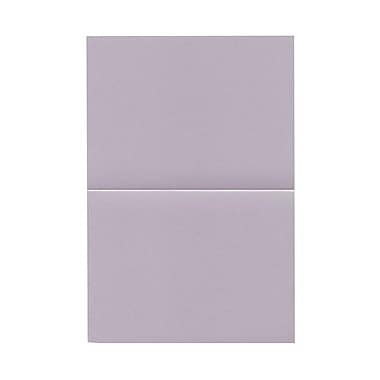 JAM Paper® Blank Foldover Cards, A6 size, 4 5/8 x 6 1/4, 80lb Curious Metallic Morphing Mauve Purple, 50/pack (69312229)