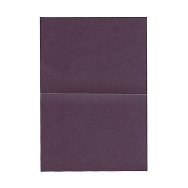 JAM Paper® Blank Foldover Cards, A7 size, 5 x 7, 80lb Stardream Metallic Ruby Purple, 50/pack (6935534)