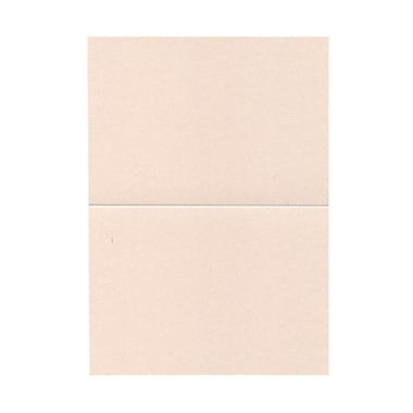 JAM Paper® Blank Foldover Cards, A7 size, 5 x 7, Stardream Metallic Coral Pink, 50/Pack (69313368)