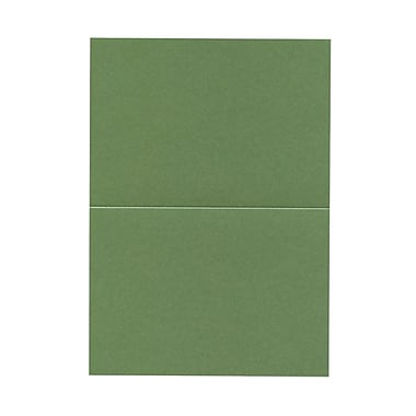 JAM Paper® Blank Foldover Cards, A7 size, 5 x 7, 80lb Stardream Metallic Fairway Green, 50/pack (69313375)