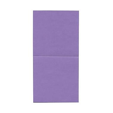 JAM Paper® Foldover Cards, 5.75 x 5.75 square, Stardream Metallic Amethyst Purple, 50/pack (6935179)