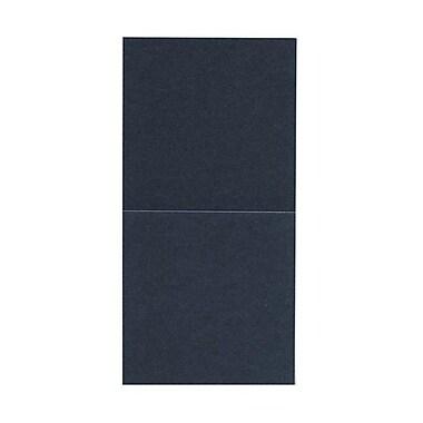 JAM Paper® Foldover Cards, 5.75 x 5.75 square, Stardream Metallic Anthracite Black, 50/pack (6935180)