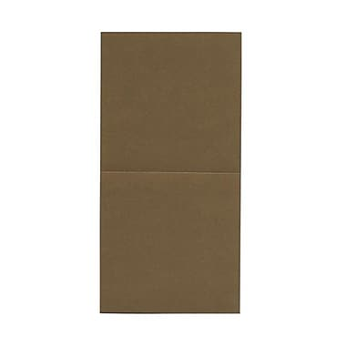 JAM Paper® Foldover Cards, 5.75 x 5.75 square, Stardream Metallic Antique Gold Yellow, 50/pack (6935181)