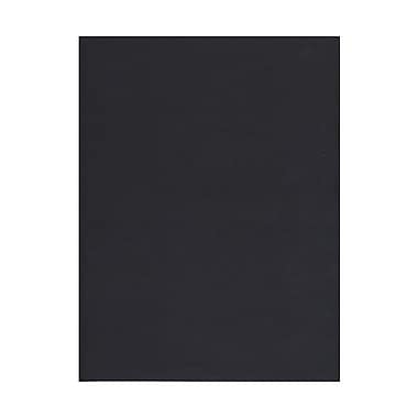 JAM Paper® 8 1/2in. x 11in. Linen Cover Cardstock, Black, 50 Sheets/Pack