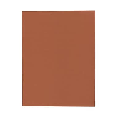 JAM Paper® 8 1/2in. x 11in. Texture Paper, Dark Orange, 50 Sheets/Pack