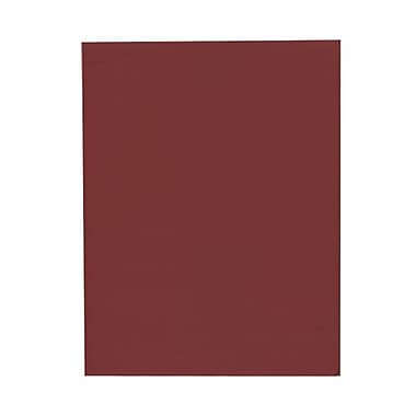 JAM Paper® 8 1/2in. x 11in. Texture Paper, Dark Red, 50 Sheets/Pack