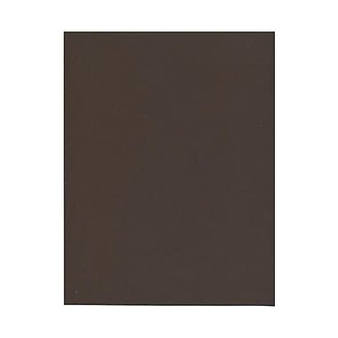 JAM Paper® 8 1/2in. x 11in. Smooth 100% Recycled Paper, Chocolate Brown, 50 Sheets/Pack