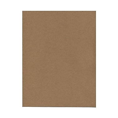 JAM Paper® 8 1/2in. x 11in. Texture Kraft Paper Bag 100% Recycled Cover Cardstock, Brown, 50 Sheets/Pack