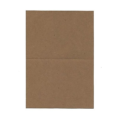 JAM Paper® Blank Foldover Cards, 4bar / A1 size, 3 1/2 x 4 7/8, 60lb Brown Kraft Paper Bag Recycled, 25/pack (530910825)