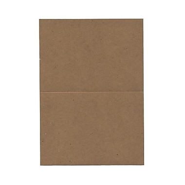 JAM Paper® Blank Foldover Cards, A7 size, 5 x 6.63, 60lb Brown Kraft Paper Bag Recycled, 500/Pack (530910832B)