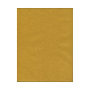 JAM Paper® 8 1/2in. x 11in. Vellum Translucent Paper, Gold, 100 Sheets/Pack