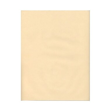 JAM Paper® 30 lb. 8 1/2in. x 11in. Translucent Vellum Paper, Spring Ochre/Ivory, 100 Sheets/Pack