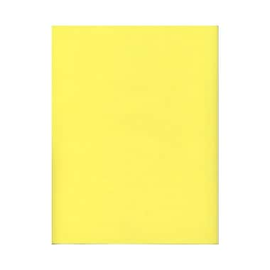 JAM Paper® 8 1/2in. x 11in. Translucent Vellum Paper, Primary Yellow, 100 Sheets/Pack