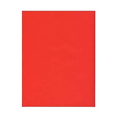 JAM Paper® 43 lb. 8 1/2in. x 11in. Paper Chartham Color Translucent Cover, Primary Red, 50/Pack