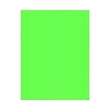 JAM Paper® 8 1/2in. x 11in. Vellum Neon Cromatica Paper/Cardstock, Fluorescent Green, 50 Sheets/Pack