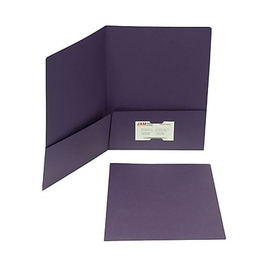 Jam® 100/Box 9in. x 12in. Paper Matte Two Pocket Folder