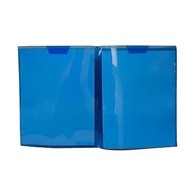 JAM Paper® 9 1/4in. x 11 1/2in. Plastic Regular Weight Full Pocket Folder, Blue