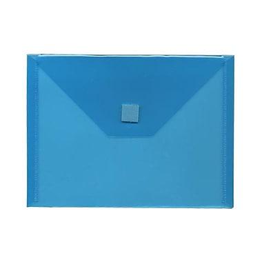 JAM Paper® Plastic Envelopes with VELCRO® Brand Closure, Index Booklet, 5.5 x 7.5, Blue Poly, 24/Pack (920V0bug)