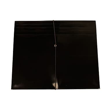 JAM Paper® Plastic Envelopes with 2 Expansion, Letter Booklet, 9.75 x 11.75, Black Poly, 10/Pack (33811blg)