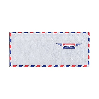 JAM Paper® 4 1/8in. x 9 1/2in. #10 Envelopes, Airmail, 100/Pack