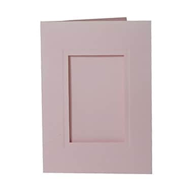 JAM Paper® Foldover Photo Cards, A7 size, 5 x 7, 2.5 x 4 Opening, Baby Pink, 12/pack (1791031)