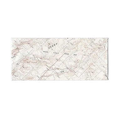 JAM Paper® #10 Business Envelopes, 4 1/8 x 9.5, Made from Real Surplus Maps, 100/Pack (163729g)