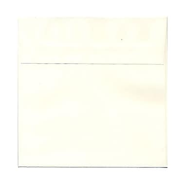 JAM Paper® 7 1/2in. x 7 1/2in. Square Wove Cardstock Envelopes w/Gum Closure, Natural White, 1000/Pack