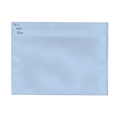 JAM Paper® 9 x 12 Booklet Envelopes, Baby Blue, 100/Pack (21515987g)