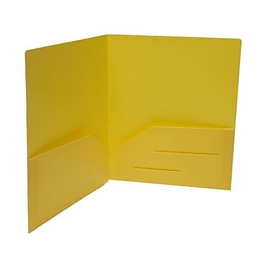 JAM Paper® 9 1/2in. x 11 5/8in. Plastic Heavy Duty Folder, Yellow
