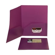 JAM Paper® 9 1/2 x 11 1/2 Plastic Biodegradable Two Pocket Eco Folder, Purple, 6/Pack