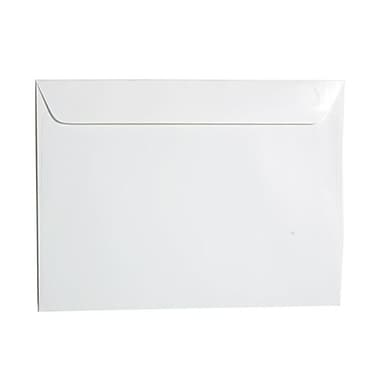 JAM Paper® 9 1/2in. x 12 5/8in. Glossy Booklet Envelopes, White, 25/Pack