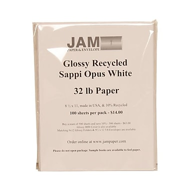 JAM Paper® 8 1/2in. x 11in. Glossy Paper, White, 500/Pack