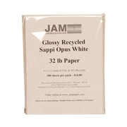 "JAM Paper® 8 1/2"" x 11"" Glossy Paper, White, 500/Pack"