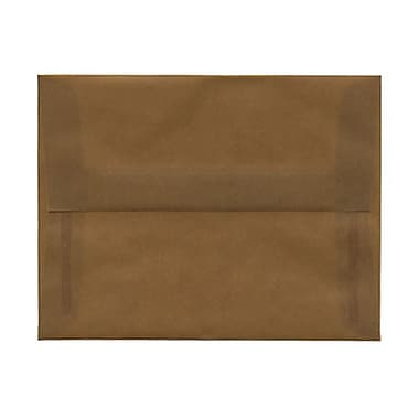 JAM Paper® A2 Invitation Envelopes, 4.38 x 5.75, Earth Brown Translucent Vellum, 100/Pack (PACV601ag)