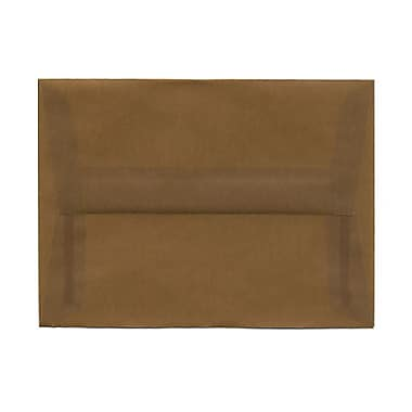JAM Paper® A6 Invitation Envelopes, 4.75 x 6.5, Earth Brown Translucent Vellum, 25/pack (PACV651)