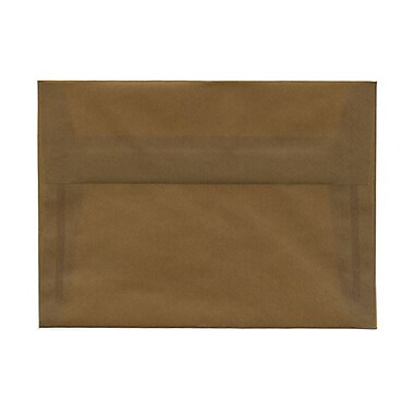 JAM Paper® A7 Invitation Envelopes, 5.25 x 7.25, Earth Brown Translucent Vellum, 25/pack (01591779A)