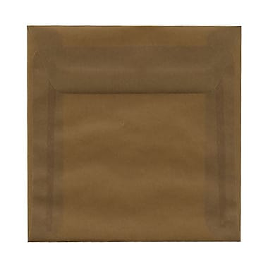 JAM Paper® 5.5 x 5.5 Square Envelopes, Earth Brown Translucent Vellum, 25/Pack (PACV501)